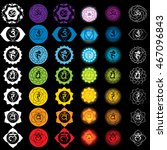 chakras icons . concept of... | Shutterstock .eps vector #467096843