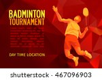 professional badminton player ... | Shutterstock .eps vector #467096903