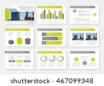 set of gray and green template... | Shutterstock .eps vector #467099348