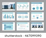 set of blue template for... | Shutterstock .eps vector #467099390
