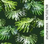 tropical leaves pattern. green... | Shutterstock . vector #467102768