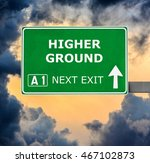 Higher Ground Road Sign Agains...