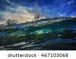 beautiful ocean background big...   Shutterstock . vector #467103068
