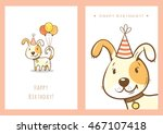 Birthday Cards Set With Cute...
