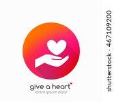 hands holding heart symbol ...   Shutterstock .eps vector #467109200