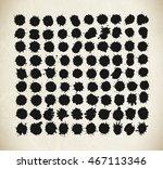 set of grunge watercolor... | Shutterstock .eps vector #467113346