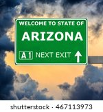 arizona road sign against clear ... | Shutterstock . vector #467113973