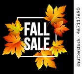 autumn seasonal sale banner... | Shutterstock .eps vector #467117690