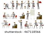 business men group grey suit... | Shutterstock .eps vector #467118566