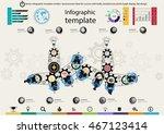 vector infographic template... | Shutterstock .eps vector #467123414