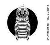 astronaut  defy the gravity ... | Shutterstock .eps vector #467125046
