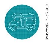 a creative camper van drawing... | Shutterstock .eps vector #467126810