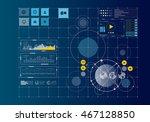 global networking concept .... | Shutterstock . vector #467128850
