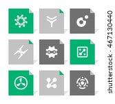 vector flat icons set  ... | Shutterstock .eps vector #467130440