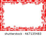 frame with the motif of snow ... | Shutterstock . vector #467135483