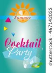cocktail party background   Shutterstock .eps vector #467142023