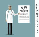 doctor character  optometrist... | Shutterstock .eps vector #467142890
