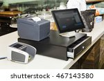 pos terminal consisting of... | Shutterstock . vector #467143580