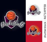 basketball colour tournament... | Shutterstock .eps vector #467149958