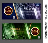 gift voucher. vector ... | Shutterstock .eps vector #467152988