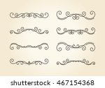 set of hand drawn vignettes... | Shutterstock . vector #467154368