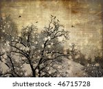 aging winter photography... | Shutterstock . vector #46715728