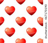 valentine day seamless red... | Shutterstock . vector #467170190