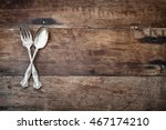 antique silverware spoon and... | Shutterstock . vector #467174210