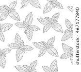 mint sketch seamless texture ... | Shutterstock .eps vector #467177840