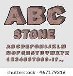 Stone Abc. Rock Font. Set Of...