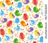 vector seamless pattern with...   Shutterstock .eps vector #467182664