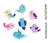 vector set of cute birds   Shutterstock .eps vector #467187698