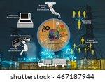 smart factory or industrial 4.0 ... | Shutterstock . vector #467187944