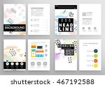 cover template with abstract... | Shutterstock .eps vector #467192588