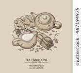 masala tea   Shutterstock .eps vector #467194979