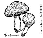 autumn harvest  poisonous... | Shutterstock .eps vector #467200208