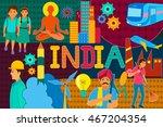 vector illustration of collage... | Shutterstock .eps vector #467204354