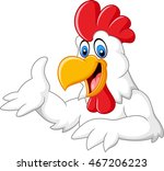 cartoon funny rooster presenting | Shutterstock .eps vector #467206223