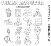 outline human resources icons...
