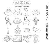 outline canada icons set....