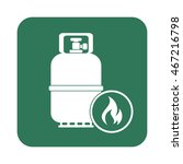 camping gas bottle icon. flat...   Shutterstock .eps vector #467216798