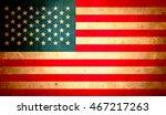 usa flag  abstract grunge... | Shutterstock . vector #467217263