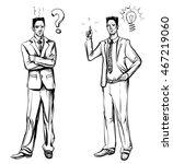 man in business suit  hand... | Shutterstock .eps vector #467219060