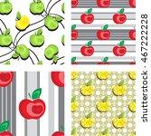 seamless apple background... | Shutterstock .eps vector #467222228