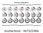 vector percentage infographics. ... | Shutterstock .eps vector #467222486