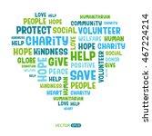charity concept. vector... | Shutterstock .eps vector #467224214
