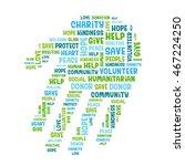 charity concept. vector... | Shutterstock .eps vector #467224250