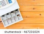 nearly empty cash register... | Shutterstock . vector #467231024