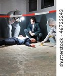 Murder Scene With Two Forensic...