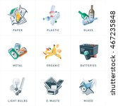 illustration of isolated trash... | Shutterstock .eps vector #467235848